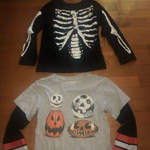 Two Boys Halloween Jerseys Size 5-6